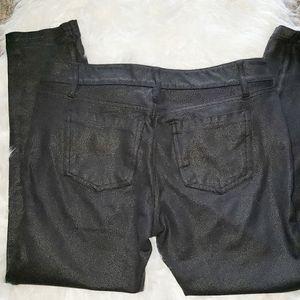 Ann Taylor Factory Pants & Jumpsuits - Ann Taylor Shiny Black Ankle Length Pants